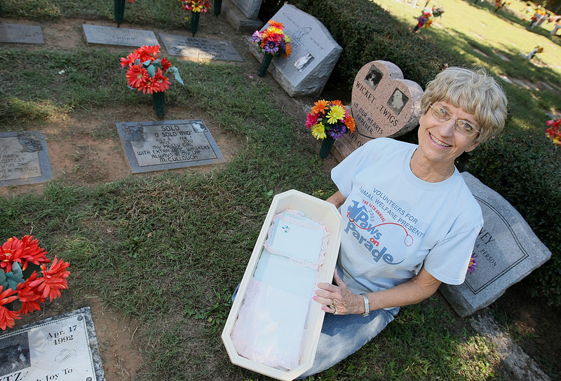Linda McCullough, owner and operator of  Precious Pets Cemetery in Spencer. PHOTO BY MAIKE SABOLICH