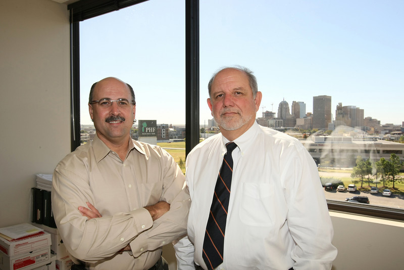 Scott Rollins, left, president and CEO of Selexys Pharmaceuticals, and Rick Alvarez, co-founder and vice president of operations and research. PHOTO BY MAIKE SABOLICH