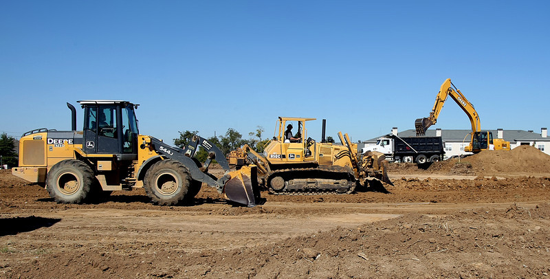 Construction crews do the dirt work on the Autumn Leaves Alzheimer's facility located at 7807 S. Mingo Road in Tulsa.