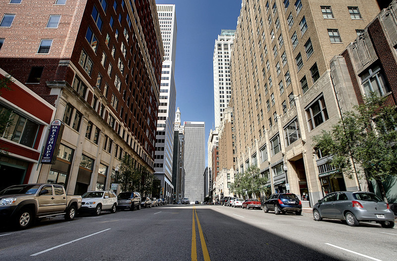 Boston Avenue between Fourth and sixth streets in downtown Tulsa may soon be developed by Kanbar into a restaurant and club corridor.