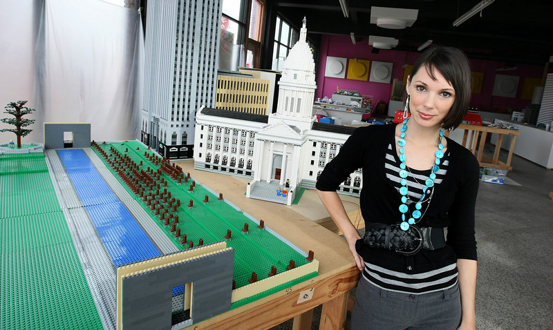 Rachel Hernandez, president of ToyScapes, the venture philanthropy organization managing the exhibit OK CityScape. PHOTO BY MAIKE SABOLICH