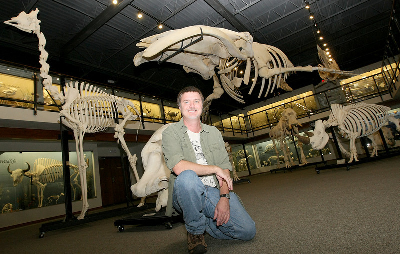 Jay Villemarette at the Museum of Osteology. PHOTO BY MAIKE SABOLICH