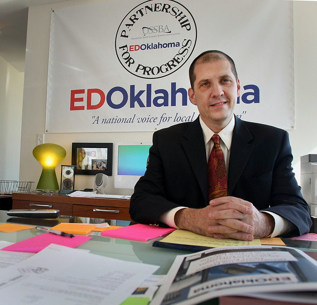 Todd Singer, owner of EDOklahoma, a consultant firm set up in Tulsa help sschools pursue grand funding.