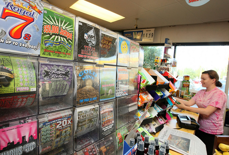 Lottery tickets at a Shell gas station in midtown Oklahoma City. PHOTO BY MAIKE SABOLICH