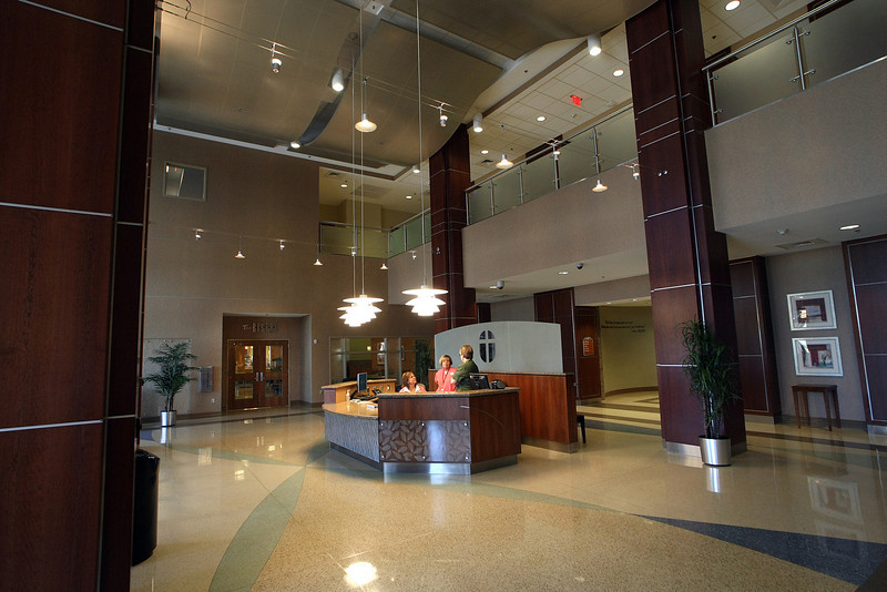 The main lobby of the St. Johns Hospital in Broken Arrow.