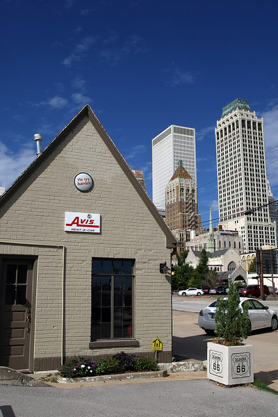 An Avis Rental Car location on Route 66 in downtown Tulsa.  Herts announced Friday that it has made it's final offer for Tulsa's Dollar Thrifty Automotive Group during a war with Avis for the company.