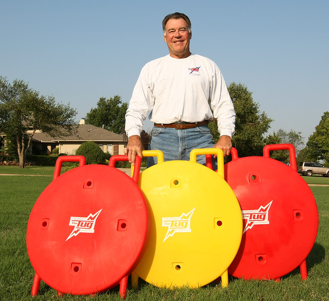 Steve Zabel, the inventor of The Tug, a versatile training device for athletes.  PHOTO BY MAIKE SABOLICH