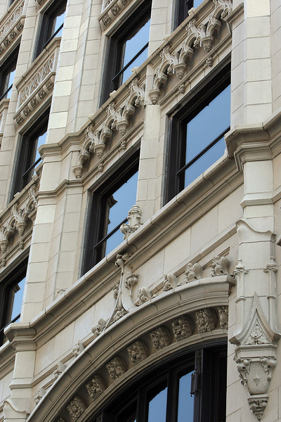 Pieces of the Decorative Terra Cotta trim on the Mid-Continent Building.