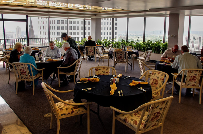 Member visit the Petroleum Club in downtown Tulsa for Lunch.