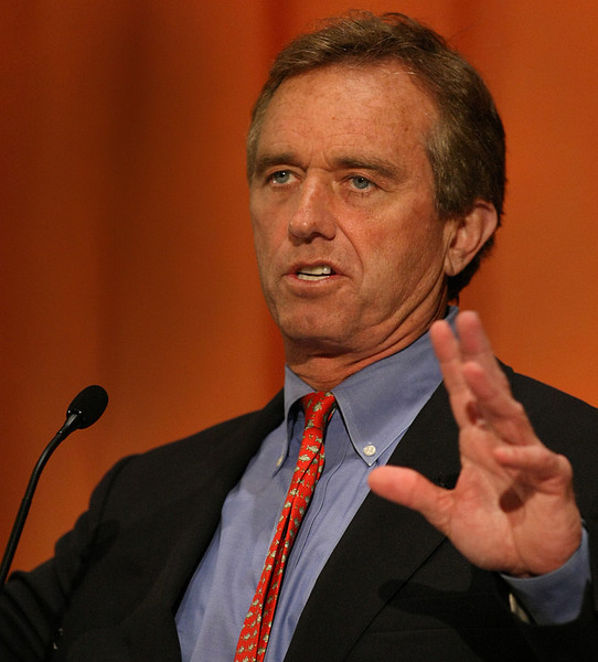 Robert F Kennedy, Jr. gives his presentation at the OSU Sustainable Enterprise Conference in Tulsa.