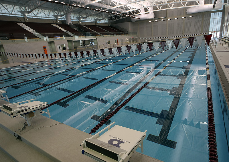 The interior of the new Jenks Trojan Aquatic Center.