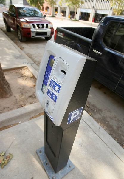 Parking meter on Main downtown. PHOTO BY MAIKE SABOLICH