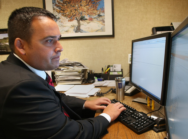 Jake Dollarhide, Longbow Asset Management Chief Executive Officer, in his downtown Tulsa Office.