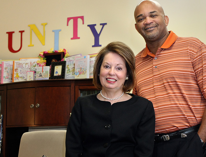 Nancy Day, Executive Director and Jeff Matthews, Program Director, for the Oklahoma Center for Community and Justice.  The center has launched a workplace diversity consulting and training program, a key component to diversify its financial base.