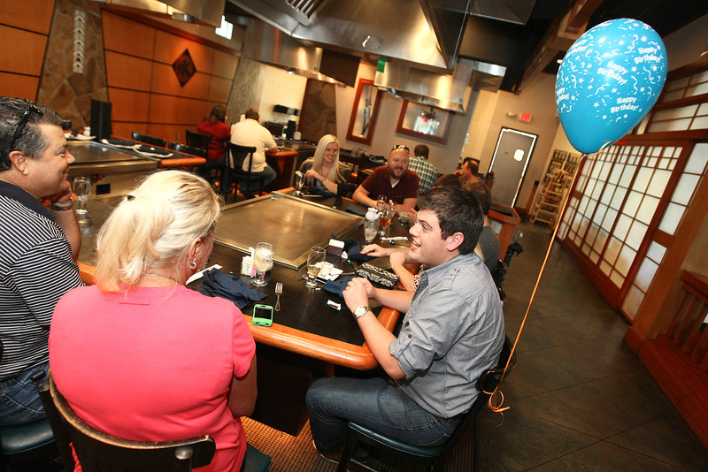 Brad Davis has a birthday party at Musashi's Friday.  Unlike the examples mentioned in the story this birthday part paid for their meals.  PHOTO BY MAIKE SABOLICH