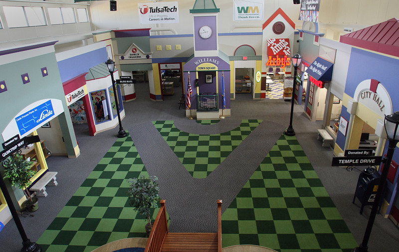 Junior Achievement of Oklahoma's Tulsa Biztown floor.