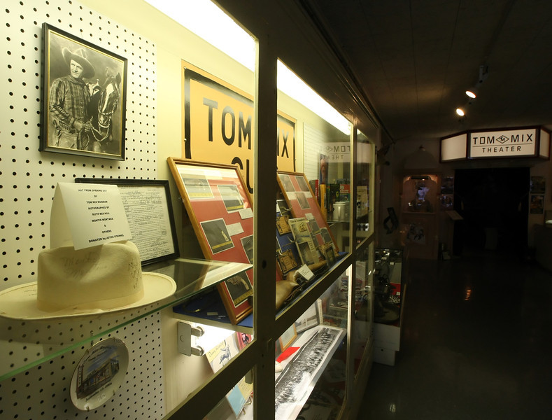 Displays at the Tom Mix Museum in Dewey Oklahoma.