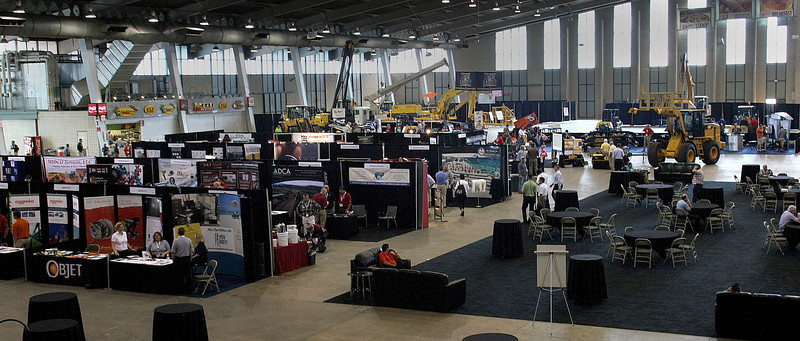 Tulsa Pipeline Expo exhibitors booths fill the floor of the in the QT Center.