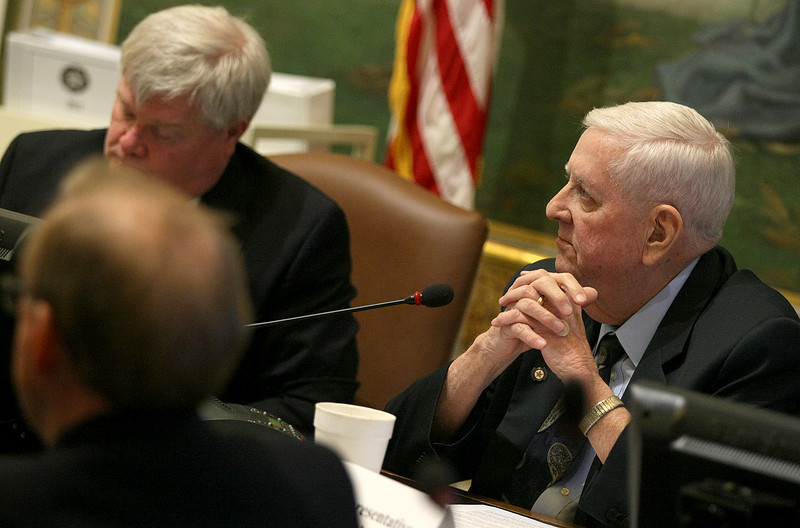 Rep. Robert Dank with the Oklahoma Tax Task Force Wednesday. PHOTO BY MAIKE SABOLICH