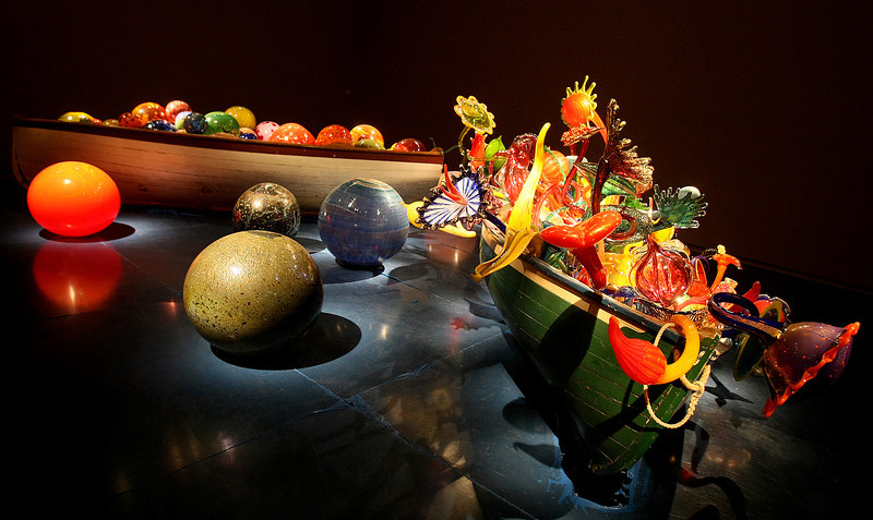 The Chihuly installation re-opens on New Year's Eve.  PHOTO BY MAIKE SABOLICH