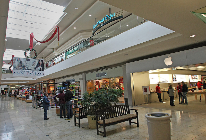 The interior on Woodland Hills Mall in South Tulsa.