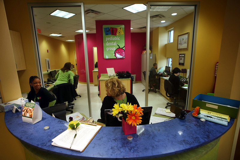 The front desk of the Pediatric Dental Group.