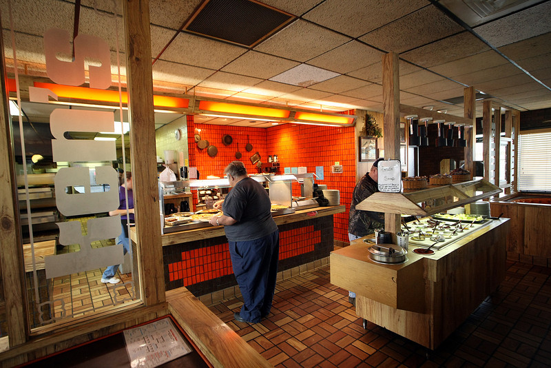 The interior of the Ken's Pizza shop in Sapulpa.