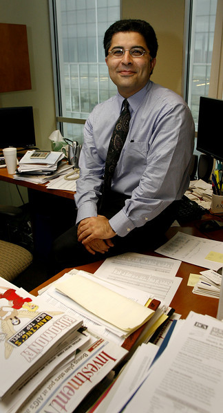 Bob Rezaee, Portfolio Manager of Cavanal Hill Investments, in his downtown Tulsa Office.