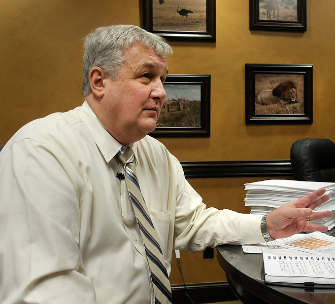 Terry Woodbeck, CEO of Tulsa Spine & Specialty Hospital, in his South Tulsa Office.