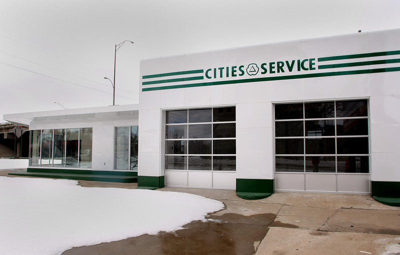 The newly restored Cities Service Station photo  number 8 at the corner of 17th & Southwest Blvd in Tulsa.