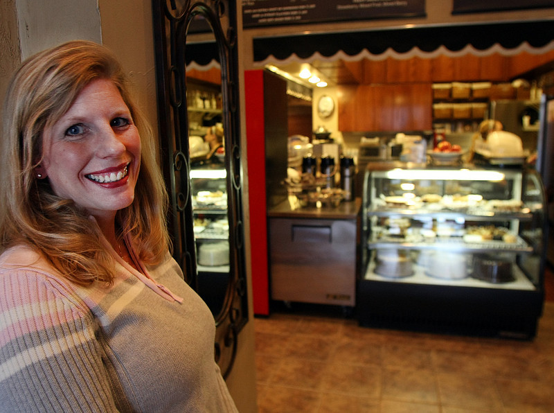 Operations Manager Jennifer Batie, who oversees the Kafe Bona in Tulsa.
