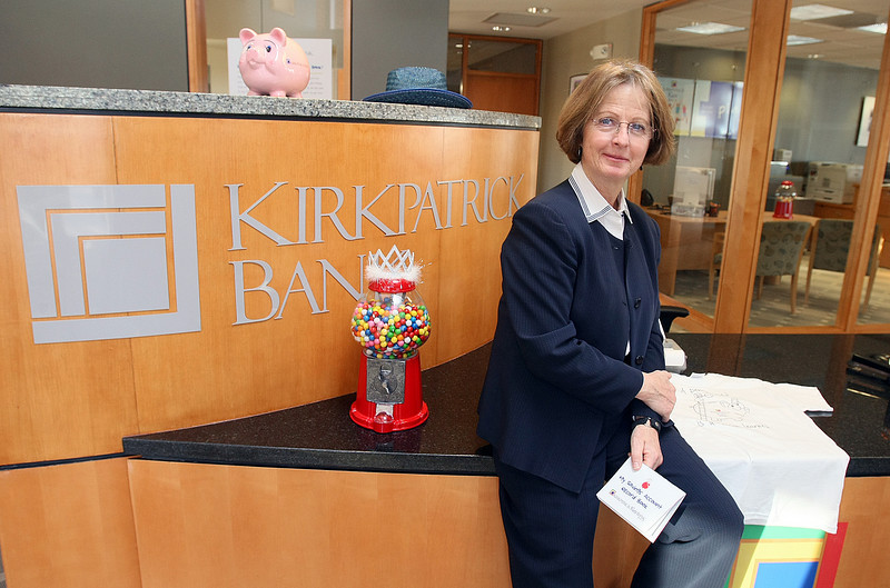 Cynthia Archiniaco with Kirkpatrick Bank's kids banking center in Edmond Tuesday. PHOTO BY MAIKE SABOLICH