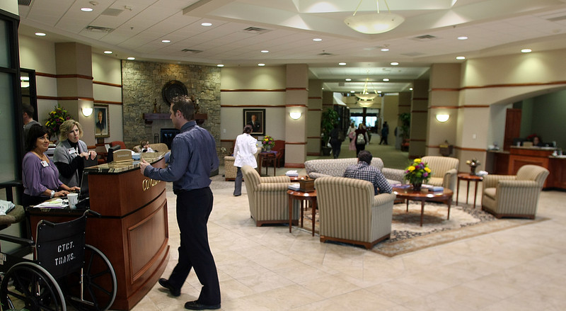 The Lobby of the Cancer Treatment Center in Tulsa.