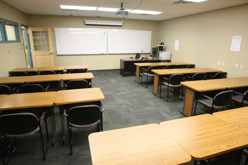The classroom of the Tulsa Community Center's Outreach Center, once a small convince store, in midtown Tulsa.