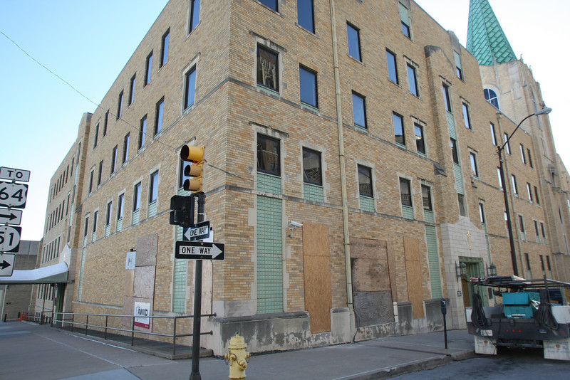 The corner of the First Baptist Church is under construction to add the first Kafe Bona location in downtown in Tulsa.