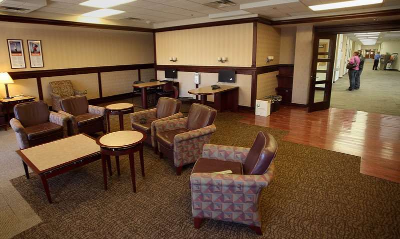 A student lounge at the OSU Tulsa Campus.