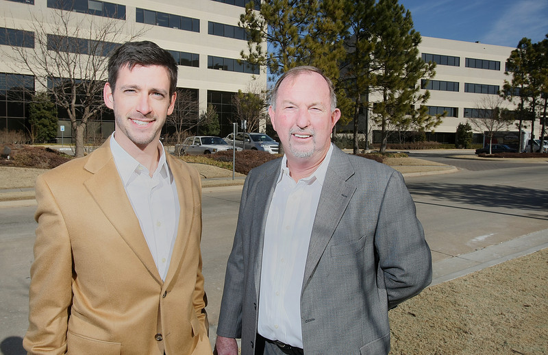 Blake Gudgel and Ron Davidson, COO and CEO of of Mintiva. PHOTO BY MAIKE SABOLICH