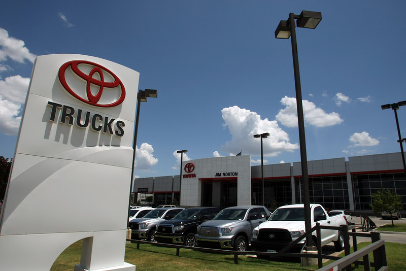 Jim Norton Toyota in South Tulsa is constructing a 30,765-square-foot car detail shop on land behind the dealership.