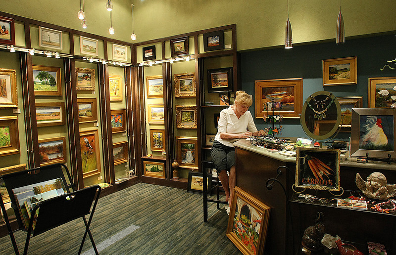 Betty Dalsing in the Atlas Art Gallery in downtown Tulsa.