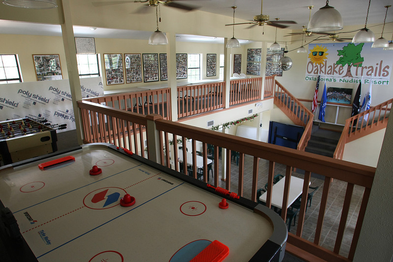 The clubhouse at the Oak Lake Trails Resort in Depew.