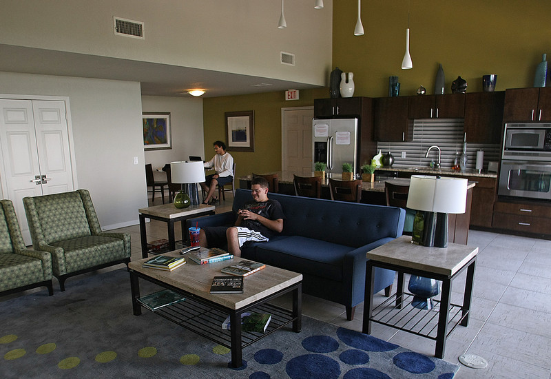 The clubhouse at Tulsa's Vista Shadow Mountain apartment complex.