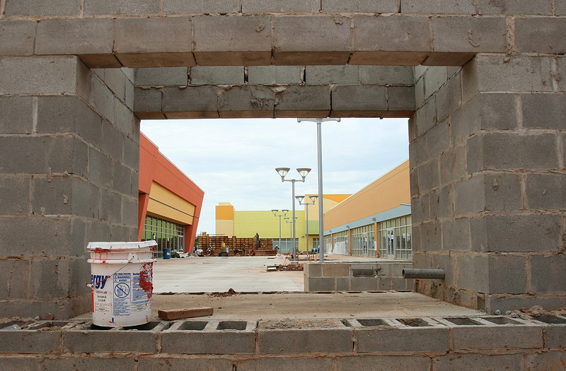 The media got a first glimpse at Oklahoma's Shoppes at Oklahoma City factory outlet mall at Interstate 40 Thursday. PHOTO BY MAIKE SABOLICH