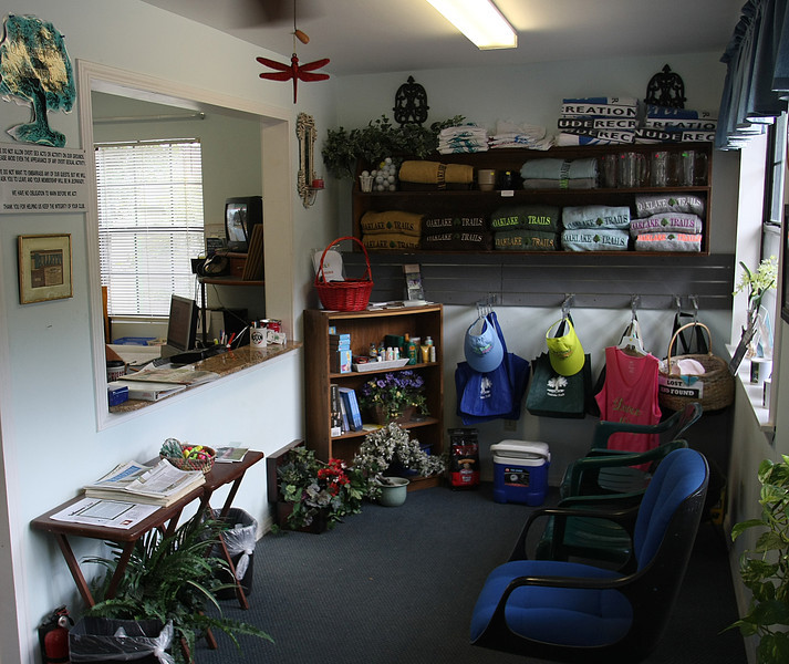 The main office at The Oak lake Trails in Depew.
