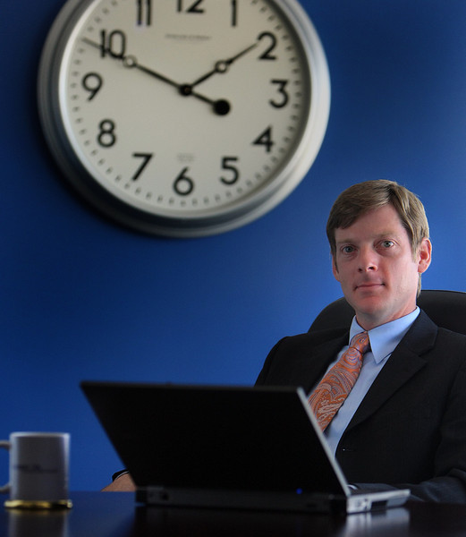 Jeremy Morton, Presidnet and CEO of The Expert TA, at his downtown Tulsa Office.