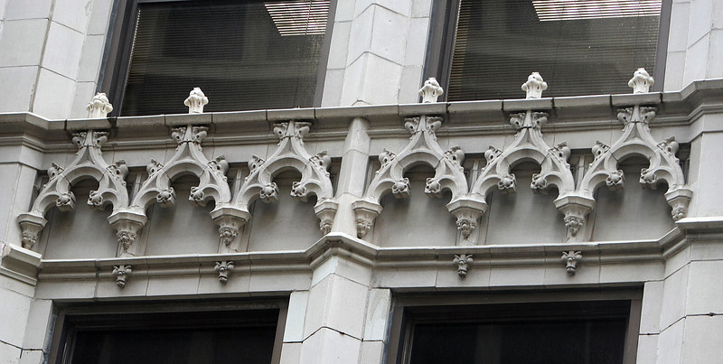 Exterior Terra Cotta stonework on the Mid-Continent Building in downtown Tulsa.