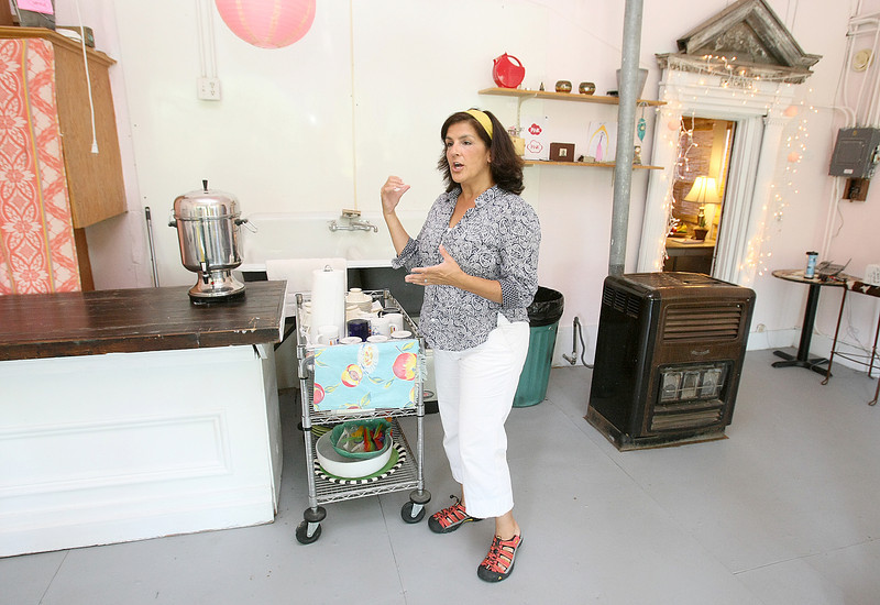 Kari Starkey shows the Pink Cloud's creative space. hPHOTO BY MAIKE SABOLICH