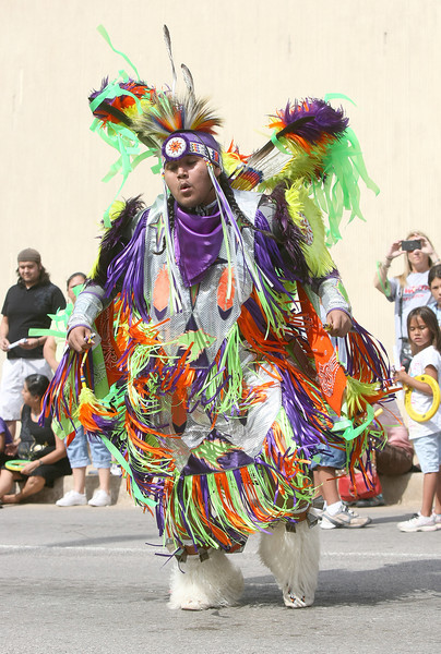 Red Earth Parade downtown kicking off the event Friday. PHOTO BY MAIKE SABOLICH