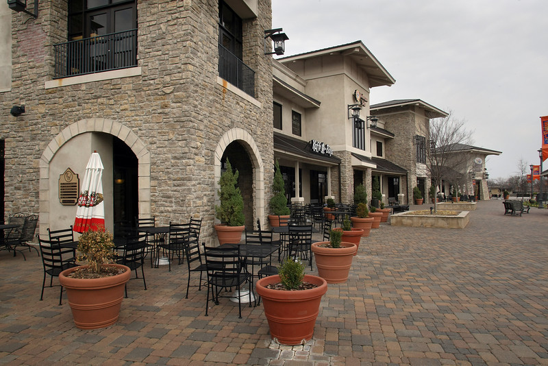 The Riverwalk center on the Arkansas River in Jenks.