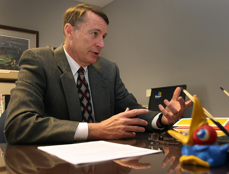 John Anderson, Senior Vice President of the Business Banking Group of the Bank of Oklahoma, in his Tusa office.