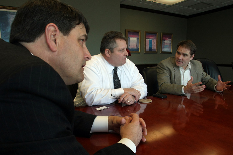 Summit Financial Group President Todd Rolland, Steve Connor, Senior Account Development Manager and Douglas A. Wright, President Strategic Solutions Group discuss the benefits of the Oklahoma Manufacturing Initiative.